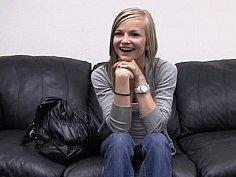Skinny teen Riley posing for casting