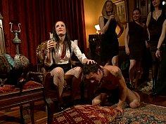 40 women gangbang slaveboy