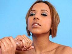 Soft Spoken Brunette Jerks A Hard Dick