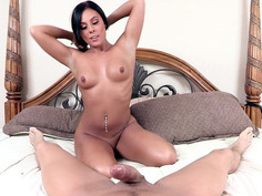 Tight-bodied brunette Gianna Nicole sucks his dick in POV