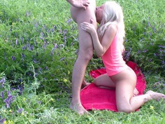 Adele Laurentia in amateur fuck scene with a blonde riding a schlong