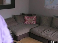 Interracial British casting on the couch