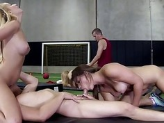 Strip Dodgeball Followed by Sex Is Loads Of Fun