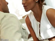 brunet couple enjoy sex on vacation