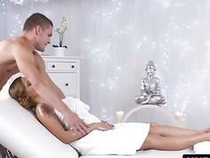 Blonde Katarina Muti Massage Big Tits Fucking Footjob