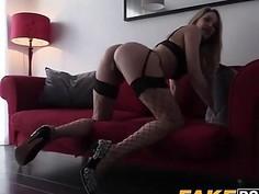Blonde hottie Tamara smashed doggystyle by corrupt cop
