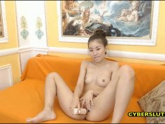 Asian petite teen pussy masturbation