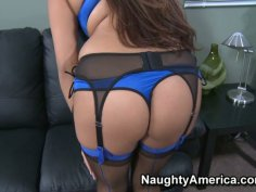 Dirty fat cock lover Penelope Piper giving a hot blowjob in the office