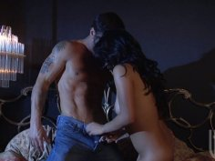 Kinky slut Kaylani Lei gets her pussy fingered and later sucks the dick deepthroat
