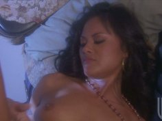 Cheerful Asian slut Kaylani Lei fucks missionary and doggystyle