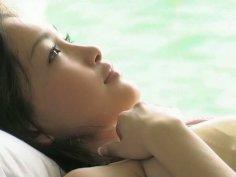 Romantic Asian chick Reon Kadena strokes her seductive body
