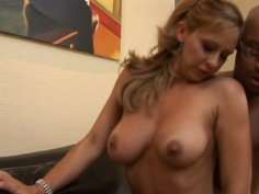 Passionate blonde MILF Phyllisha Anne gets banged hard doggy style