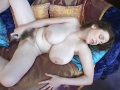 Solo BBW babe with a hairy pussy