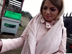 Hot Bella Scaris gives a sloppy blowjob to a hunk stud