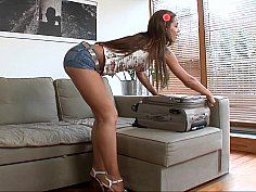 Satin Bloom paying the rent with her tight beautiful body