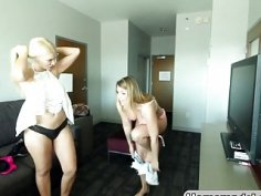 Two amazing lesbian babes Jenna Ashley and Addison Avery in hot homemade video