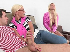 Mom gets fucked in front of her step-daughter