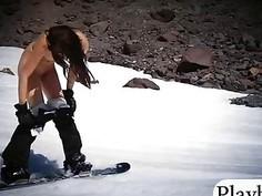 Sexy badass sluts enjoyed snowboarding and deep sea fishing