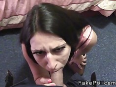Amateur beauty fucked by fake cop pov indoor