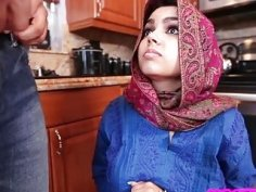 Obedient muslim exchange student creampied deep in her arab cunt