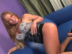 Outrageous blonde Nikki Delano gives awesome fellatio to Dick Delaware