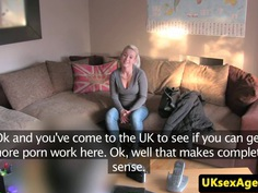 Euro blowjob castings with babe facialized