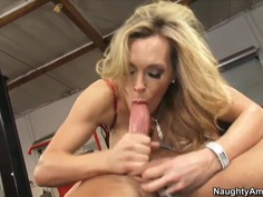 Tanya Tate applies additional stimulation to her chocha