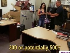 Pretty latina banged by nasty pawn dude at the pawnshop