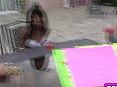 Sexy cheerleaders enjoyed in a carwash orgy