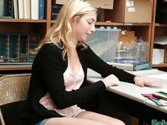 Zoe Parker teen blonde crying blowjob punishment with extra hot handjob