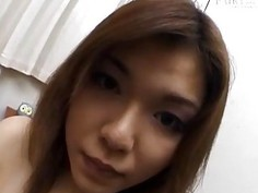 Japanese milf sucks cocks and gets pussy teased in hot threesome sex show