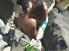 Voyeur on nude beach films publiic sex