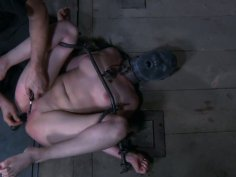 Brunette slut Nyssa Nevers is tortured in a gonzo BDSM video produced by Infernal Restraints