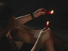 BDSM Bondage Teen punished spanking fetish candle