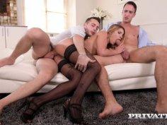 Angel Rivas, Horny Maid Enjoys DP