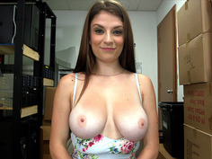20 years old girl Dillion Carter shows off her natural double Ds