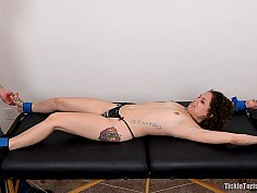 Topless petite bound and tickled