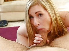 Beauty is hunks willy with moist engulfing