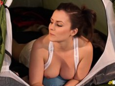 Tempting gals show their big boobs downblouse hot POV compilation