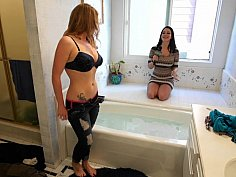 Redhead amateur teen does it for money