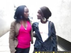 African lesbian sluts licking shaved pussies