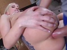 Horny hot babe Christie Steven loves a hot jizz