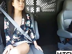 Renee Roulette hitches ride and gets fucked